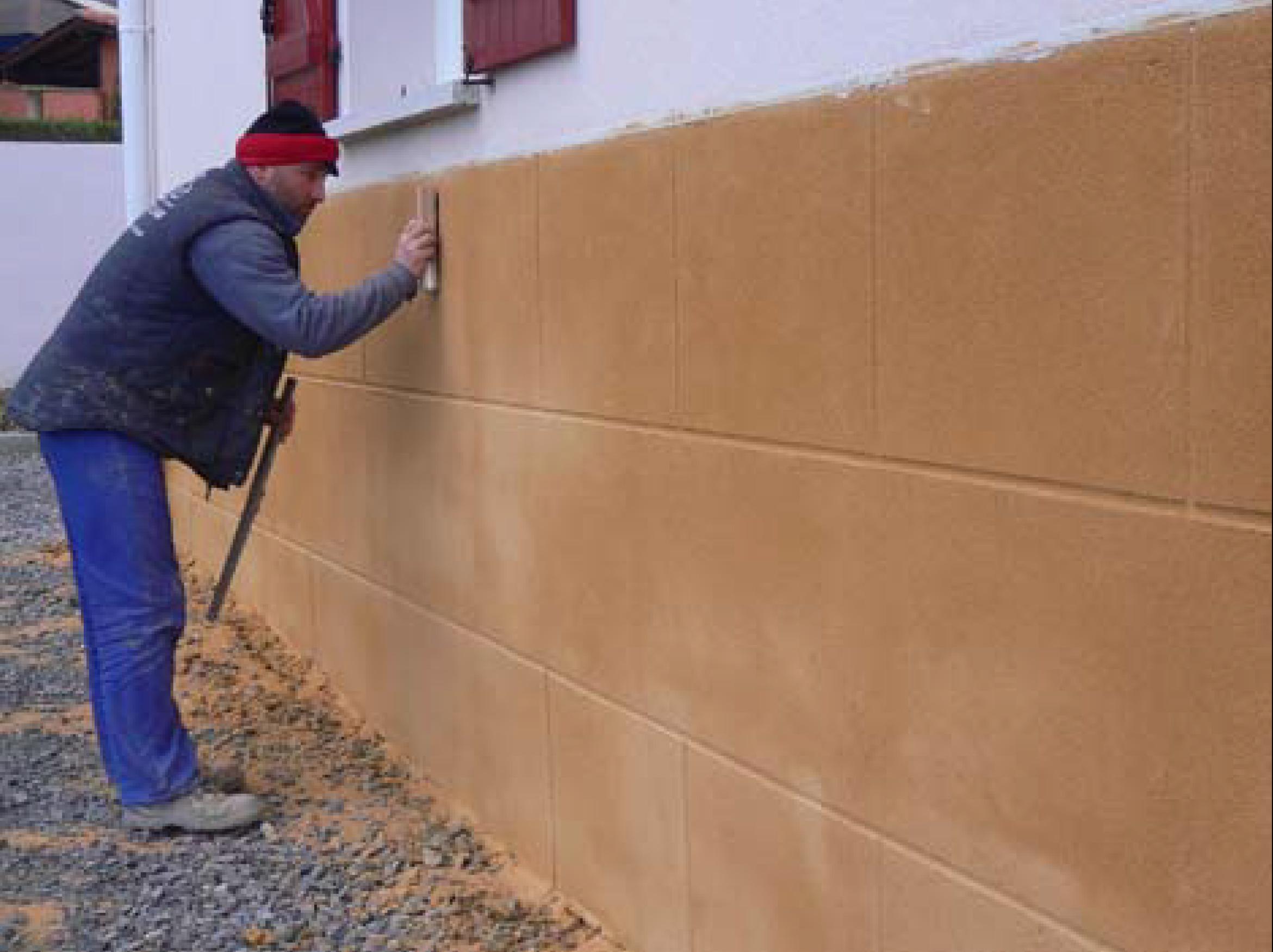 Rehabilitaci n de fachada en hendaya francia - Mortero para fachadas ...